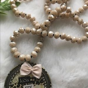 handmade Jewelry - Southern Pendant & Beaded Necklace
